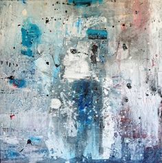 """""""not a Second Time,"""" abstract blue painting by artist jean Paul Martz  