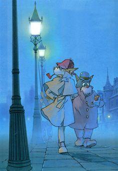 Sherlock Holmes est un dessin animé italo-japonais très librement adapté de l'œuvre d'Arthur Conan Doyle, et en partie réalisé par le grand Hayao MIYAZAKI. En France, nous pouvons le voir sur Canal +, dans Cabou Cadin, dès décembre 1984 (à condition de...