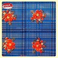 Toile cirée Kitsch Kitchen RAMITOS bleu