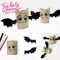 Halloween-themed decorations, 40 simple ideas to make - Theme Halloween, Halloween Painting, Easy Halloween Crafts, Halloween 2017, Holidays Halloween, Halloween Kids, Happy Halloween, Halloween Tutorial, Origami Halloween Decorations