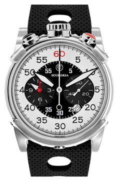 CT Scuderia 'Dirt Track' Chronograph Silicone Strap Watch, 44mm
