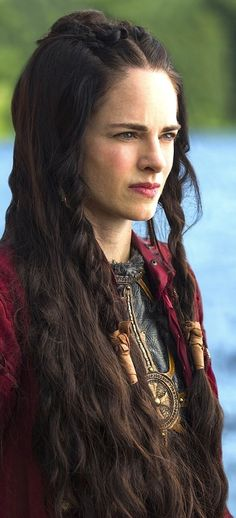 Medieval Princess Braided Hairstyle. Kwenthrith from Vikings.