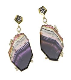 Jemma Wynne Tourmaline and Diamond Earrings