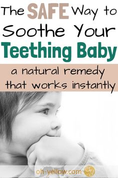 This natural teething remedy is safe for giving your baby relief when those teething symptoms strike. Soothe baby teething pain with this simple and gentle remedy. Baby Teething Remedies, Teething Relief, Natural Teething Remedies, Teething Symptoms, Baby Care Tips, Baby Tips, Baby Registry Items, Advice For New Moms, Kawaii