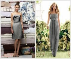 Affordable Gray {bridesmaids dresses} | Engaged & Inspired love the long flowy one