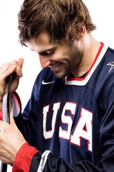 Ryan Kesler- Vancouver Canucks and proud member of the USA Olympic Hockey Team! The enemy but not at the Olympics