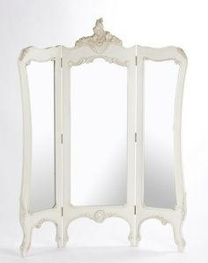 French Boudoir 3 Screen Mirror   Traditional   Mirrors     By Julietteu0027s  Interiors