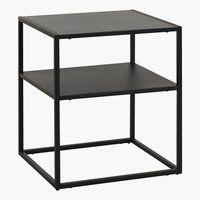 Nattbord - Se hele utvalget vårt av sengebord her Metal Shelves, Open Shelving, Storage Shelves, Storage Spaces, Viborg, Black Side Table, White Nightstand, Home Bedroom, Houses