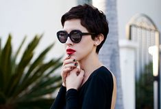 If Hepburn and Tautou had a baby, she would definitely look like this.
