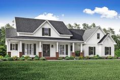 House Plan 041-00151 - Country Plan: 2,469 Square Feet, 3 Bedrooms, 2 Bathrooms