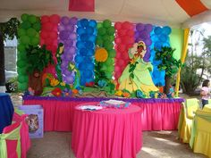 love the colors! Princess Tiana, Princess Theme, Party Themes, Party Ideas, Theme Parties, Ballerina Birthday, Bday Girl, New Years Decorations, Party Planning