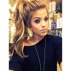 High Ponytail Hairstyle for Long Face Shape http://www.jexshop.com/
