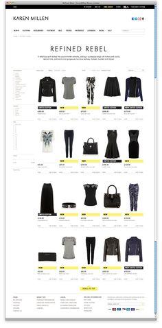 The new Karen Millen website (trends), rebranded by October Sun.