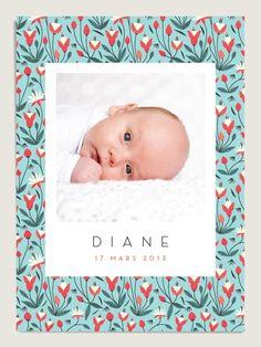 Faire-part de naissance : Clochettes . www.dioton.fr