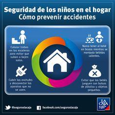 Te contamos cómo proteger a los más pequeños en el #hogar, con esta infografía para la prevención de #accidentes. ¡Compartila! #Seguridad