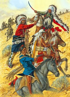 Chiefs Crazy Head, Sun Bear, Young Little Wolf and Standing Bear at Little Big Horn Native American Models, Native American Warrior, Native American Paintings, Native American Indians, American History, Indian Artwork, Indian Paintings, Native Drawings, American Indian Wars