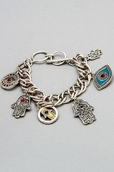 Hamsa & Evil Eye Charm Bracelet