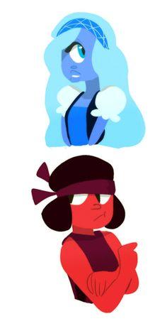 :) Love the headcanon that Sapphire has one eye; it makes sense.