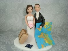 travel themed wedding cake toppers - Google Search