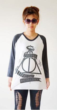 SML  Deathly Hallows Shirt Harry Potter Shirt by cottonclick, $18.00