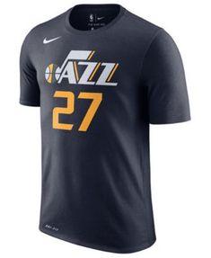 a14396be5e2 Nike Men s Rudy Gobert Utah Jazz Icon Player T-Shirt - Blue S. School JerseyDonovan  MitchellUtah ...