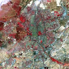 Madrid, Spain, photographed by the U.S./Japan ASTER Science Team in 2000.
