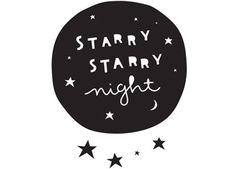 sticker mural Starry night a Little Lovely Company | shop pour enfants Le Petit Zèbre