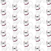 OMG!!!  I MUST HAVE THIS FABRIC!!!  Vivi...err I mean Victoria the little White Bulldog by missyq, click to purchase