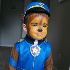 Chase from Paw Patrol Halloween makeup
