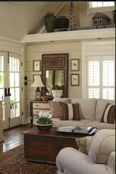 Vaulted Ceiling Shelf Decoration