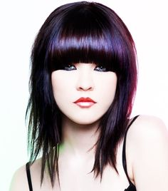 Bob Emo Hairstyle with Medium Length Hair - You can also add layers to it for a trendy look. Almost anybody can go in for a medium length haircut. It looks good on all of the face shapes