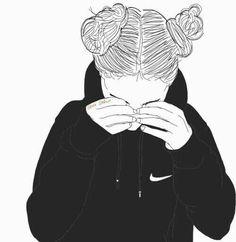 noir et blanc, dessin, Tumblr
