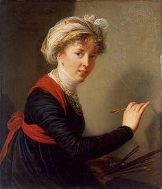Elisabeth-Louise Vigee Le Brun, Self-Portrait.