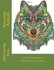 Awesome Animals:A Stress Management by Adult Coloring Books (Paperback)BRAND NEW