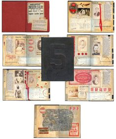 5 Jack the Ripper Altered Book by LisaVollrath: One of a kind altered book, now available on Etsy.
