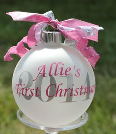 Hey, I found this really awesome Etsy listing at https://www.etsy.com/listing/200393627/monogram-babys-first-christmas-ornament
