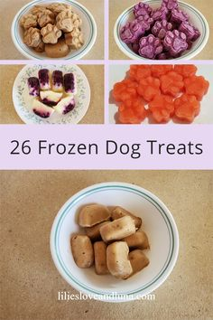 26 frozen dog treats to make for your dog.