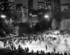 Central Park ice rink. Photo by Dave Beckerman.