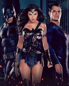 "Batman - ""I'm first.""   Superman -""I'm finished.""  Gal  :)"