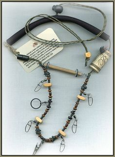 Fly Fishing Lanyard with Tippet Holder by WiredAndStrungOut, $21.00