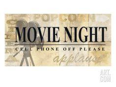 Movie Night Giclee Print by Z Studio at Art.com