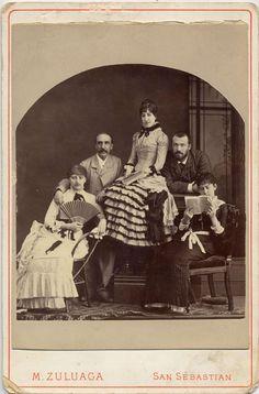 Zuluaga, M.: retrato de familia, Carte Cabinet 1890.  Hesperus´ Collection