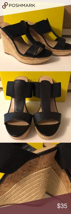 Charles David black wedges New with tag- black wedges by Charles David- classic- comfortable - will go with every outfit! Charles David Shoes Wedges