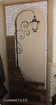 Переделка входной двери   благодаря любимой собаке Дерево Картон Краска фото 1