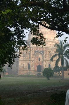 #mysleepykisser-with-feelings-hid: Lodhi Gardens temple through the trees New Delhi India