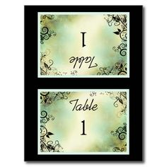 Enchanted Evening Table Tent Post Card