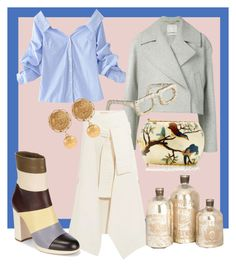 """Smart look"" by blumbeeno ❤ liked on Polyvore featuring Jason Wu, Cyan Design, Marni, WithChic, Artisan, Silvia Furmanovich, Dolce&Gabbana and Valentino"