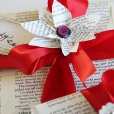 Book Page Holiday Crafts