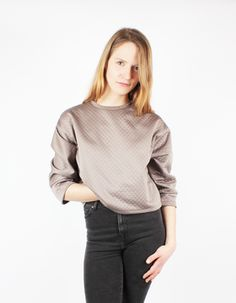 Cropped Pullover Sophie Taupe