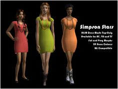 Impish Sims : Credits. EAxis for the original dress mesh and...